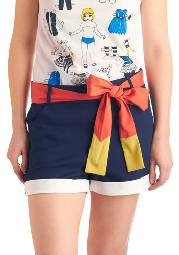 Oh Buoy Shorts - Short, Blue, Orange, Yellow, White, Buttons, Nautical