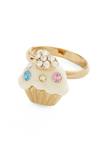 Treat Yourself Right Ring - Gold, Blue, Pink, White, Rhinestones