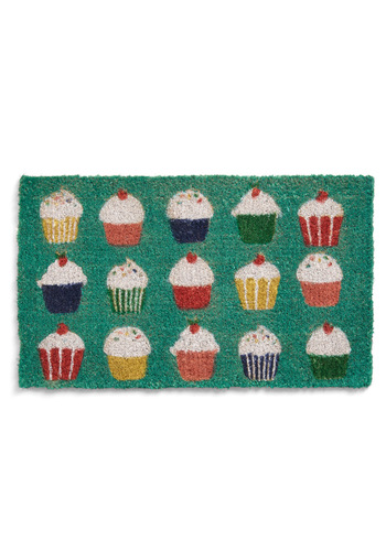 Sprinkle Toes Doormat - Green, Multi, Red, Yellow, Green, Blue, White, Novelty Print