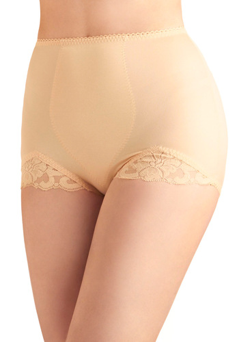 Properly Layered Undies in Peach by Rago - Lace, Tan, Solid, Vintage Inspired, Pinup, Variation, 50s