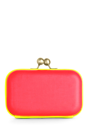 Hit the Dance Floor-escent Clutch - Pink, Yellow, Party