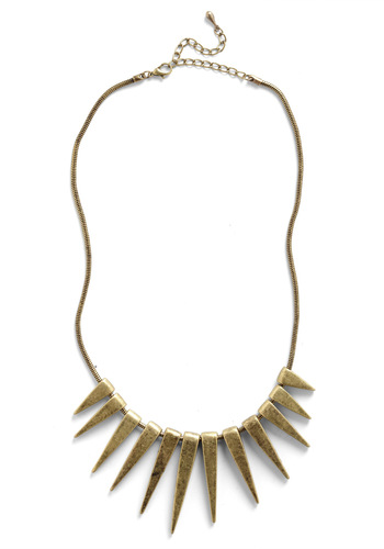 Spike an Interest Necklace - Gold, Solid, Chain