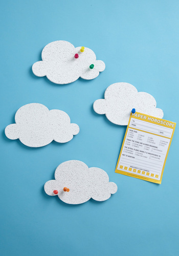Cute the Breeze Message Board Set - White