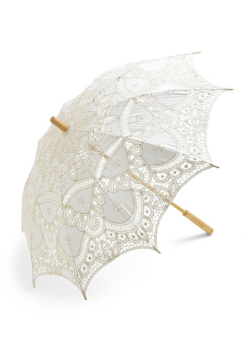 Vanilla Skies Parasol - Cream, Lace