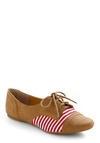 Element of Surprise Flat - Brown, Red, White, Stripes, Casual, Menswear Inspired