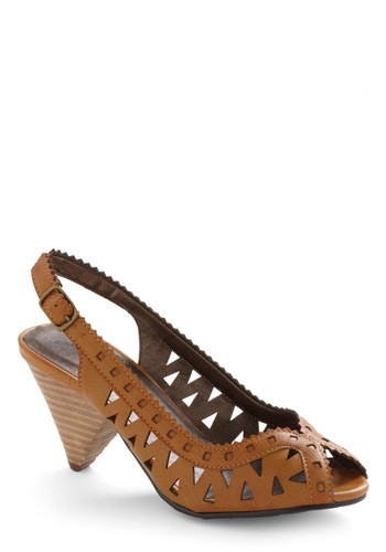 Isosceles the Sign Heel - Brown, Solid, Cutout