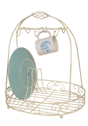 Washing & Hoping & Dreaming Dish Rack - White, Casual, Eco-Friendly