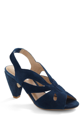 Step into the Sea Heel by Chelsea Crew - Blue, Cutout, Solid