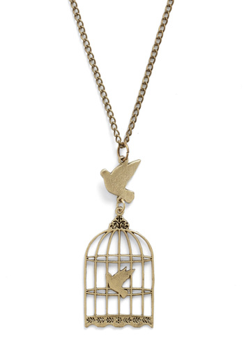 Free and Dear Darlings Necklace - Gold, Solid, Chain