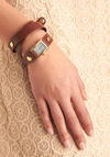 The Bands of Time Watch - Casual, Brown, Gold, Buckles, Solid, Faux Leather