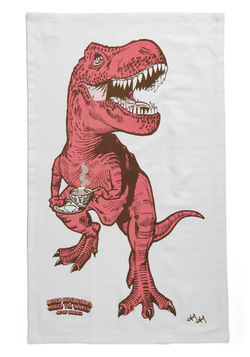 Diner-saurs Tea Towel