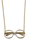 Frame of Reference Desk Necklace - Gold, Steampunk