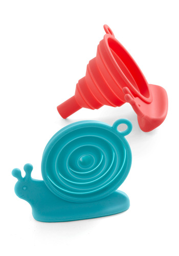 Escargot with the Flow Funnels - Red, Blue, Dorm Decor