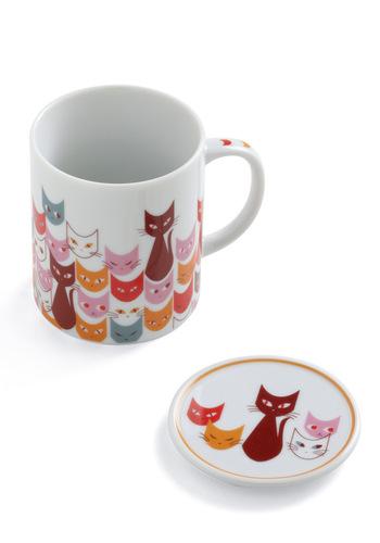 Get in Fe-line Mug - Multi, Print with Animals, Dorm Decor