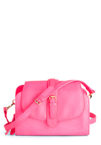 All Bright with Me Bag - Statement, Pink, Solid, Buckles