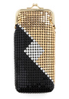 First in Glasses Case in Deco Diamond - Black, Gold, Travel