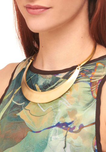Simplicity Dweller Necklace - Gold, Solid, Urban