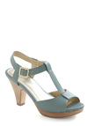 Hey There Heel by Seychelles - Green, Solid, Buckles, Spring