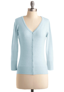 Charter School Cardigan in Light Blue
