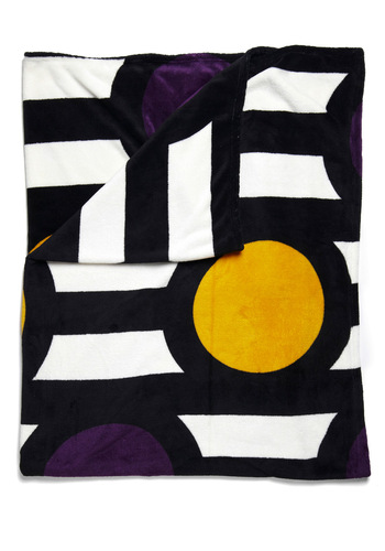 Things Are Taking Shape Throw Blanket - Multi, Yellow, Purple, Black, White, Dorm Decor
