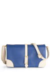 Business As Beautiful Bag - Menswear Inspired, Blue, White, Buckles, Scholastic/Collegiate, Faux Leather
