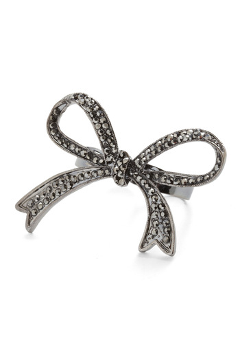 Knot Couture Ring - Party, Statement, Silver, Rhinestones