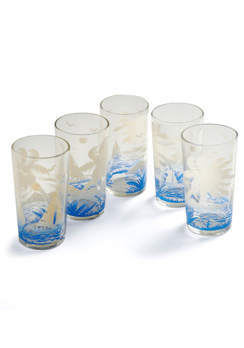 Vintage Surf's Cup Glass Set