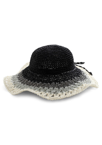 And That's That Hat - Black, Grey, Bows, Woven, White, Boho, Travel