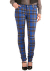 Never Plaid It So Good Jeans in Blue - Long, Casual, Multi, Blue, Plaid, Statement, Denim