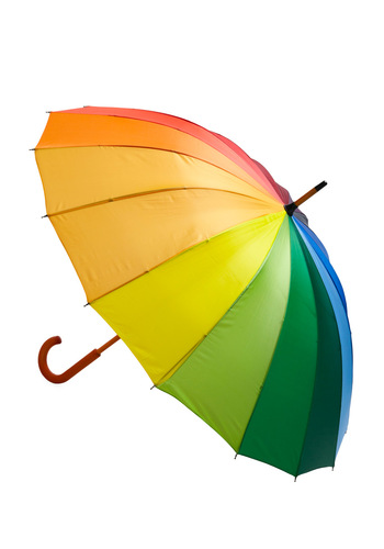 Rays the Bar Umbrella - Multi, Red, Orange, Yellow, Green, Blue, Purple, Travel, Spring