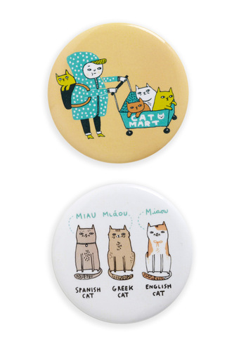 Opposites Cat-tract Magnet Set - Multi, Dorm Decor