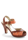 Coulda Danced All Night Heel by Seychelles - Orange, Buckles, Cutout, Brown, Party, Leather, Platform, Mid