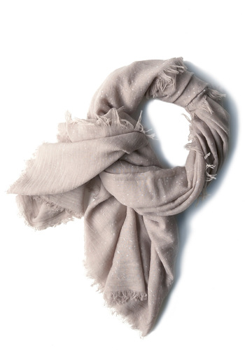 Rain Supreme Scarf in Grey - Casual, Urban, Fringed, Grey, Solid