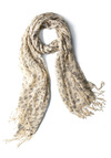 Garden Party Animal Scarf - Casual, Urban, Multi, Animal Print, Fringed, Tan / Cream, Black, Grey, Boho