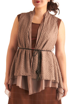 Stand the Texture of Time Vest in Plus Size