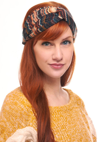 Right Hair, Right Now Headband - Multi, Stripes, Red, Blue, Brown, Tan / Cream, Black, Multi, Casual