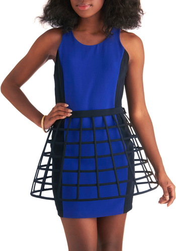 I Cage, I Saw, I Conquered Skirt - Short, Black, Cutout, Statement, Party