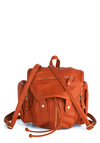 I Love Utility Backpack - Brown, Solid, Buckles, Exposed zipper, Pockets, Travel, Scholastic/Collegiate, Faux Leather