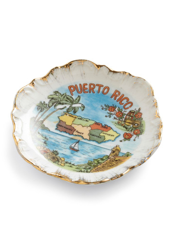 Vintage Treasured Island Dish