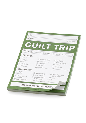 Guilt Trip Notepad by Knock Knock