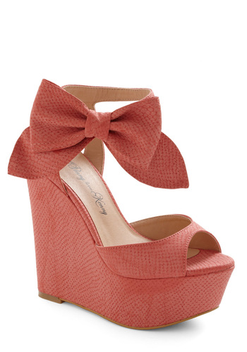Stylista Strut Wedge - Bows, Buckles, Party, Statement, Pink, Animal Print, Wedge, Spring, Platform, Peep Toe, High
