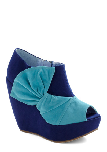 Mai Tai of Day Wedge - Blue, Multi, Green, Bows, Party, Wedge