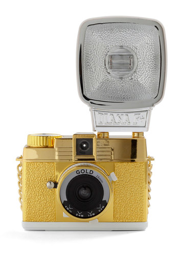 Diana Mini Gold Edition by Lomography - Yellow, Vintage Inspired, Rockabilly, Travel