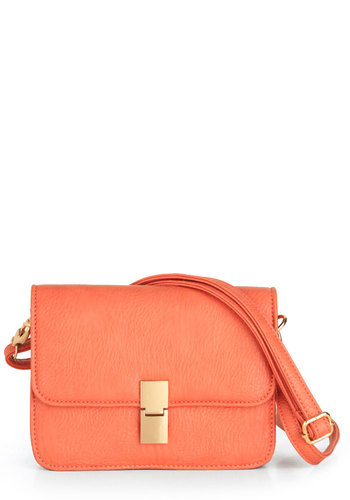 Just Called to Say Hibiscus Bag - Orange, Gold, Solid, Buckles