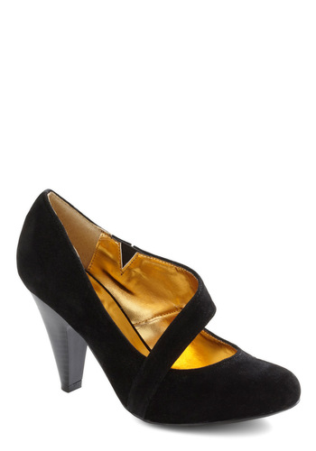 Career Crossover Heel - Black, Solid, Party, Work