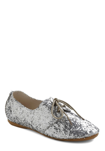Metronome Sweet Home Shoe in Glitter - Silver, Solid, Party