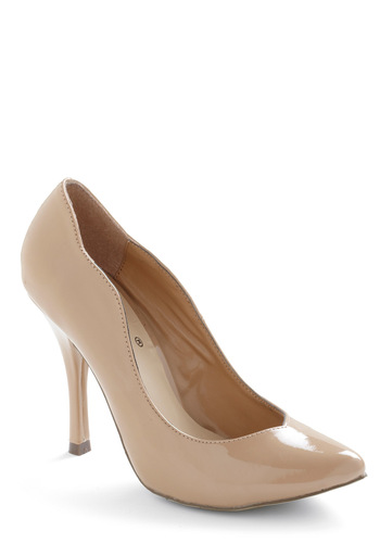 Cafe au Lady Heels - Work, Vintage Inspired, Tan, Solid