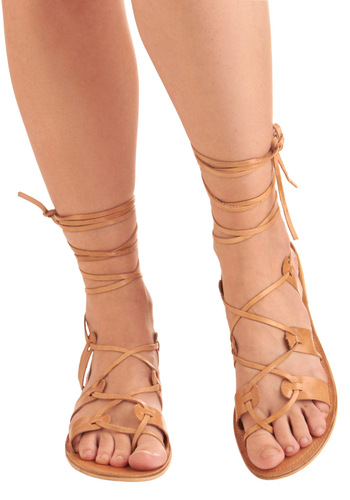 Kick Back Sandal - Tan, Solid, Bows, Casual, Boho, Summer