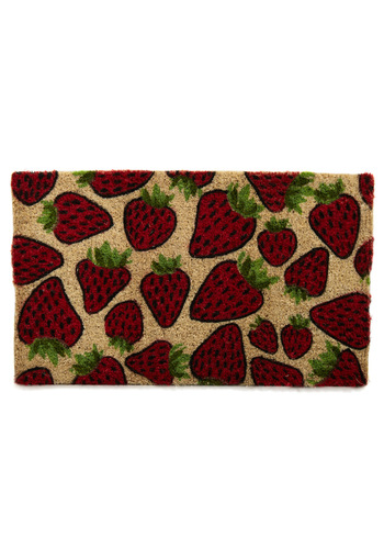 That's My Jam Doormat - Red, Green, Tan / Cream, Black, Print, Fruits