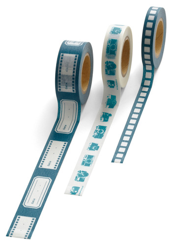 Andy's Picturesque Paper Tape Set - Green, Blue